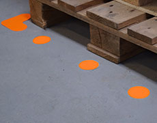 Floor marking shapes