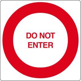 """Floor pictogram for """"Do Not Enter"""""""