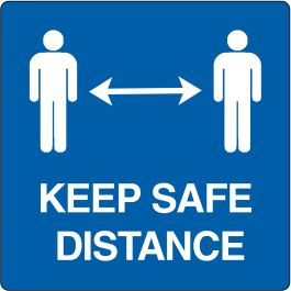 "Floor pictogram for ""Keep Safe Distance"""