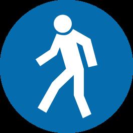 "Anti-slip floor pictogram: ""Pedestrians Only"""