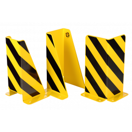 Crash protection guards for racks