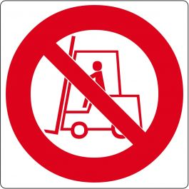 "Floor pictogram for ""No Forklifts"""