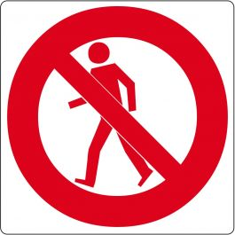 "Floor pictogram for ""No Pedestrians"""