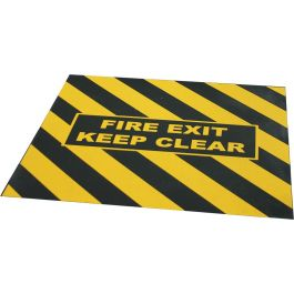 """""""FIRE EXIT KEEP CLEAR"""" warning tape for emergency exit"""