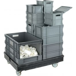 Plastic straight-wall containers