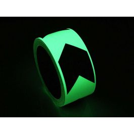 Glow-in-the-dark directional tape