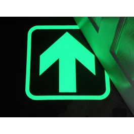 Glow-in-the-dark arrow to indicate exit routes