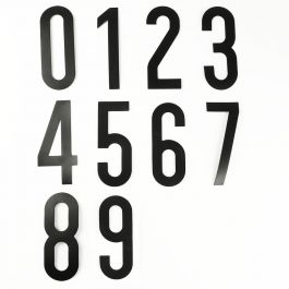 Self-adhesive number set (0 to 9)