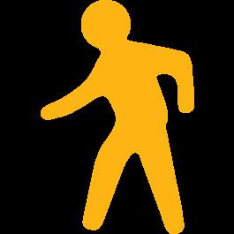 Pedestrian Walkway Floor Sign, Anti-slip