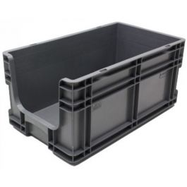 Straight-wall container 295x505x235 mm with open front