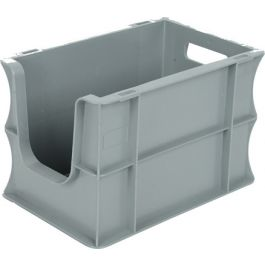 Straight-wall container Eurobox 200x300x200 mm with open front