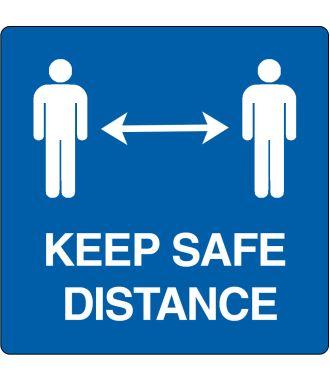 """Floor pictogram for """"Keep Safe Distance"""""""