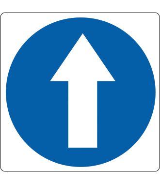 "Floor pictogram for ""Mandatory Walking Direction"""