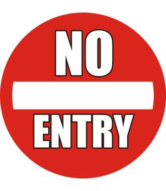 "Anti-slip floor pictogram: ""No Entry"""