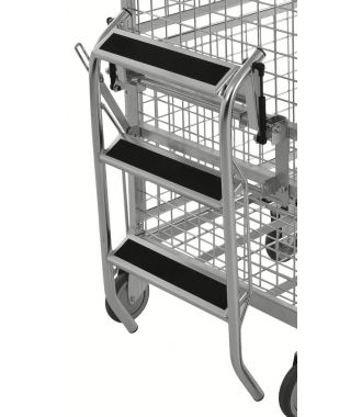 Kongamek folding step ladder for KM9000 shelf trolley