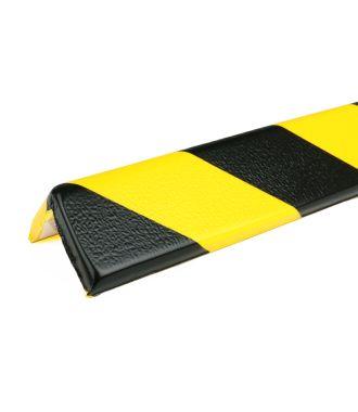 PRS bumper for corners, model 8 - yellow/black - 1 meter