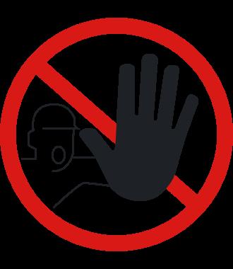 """Anti-slip floor pictogram: """"Unauthorised Persons Not Permitted"""""""