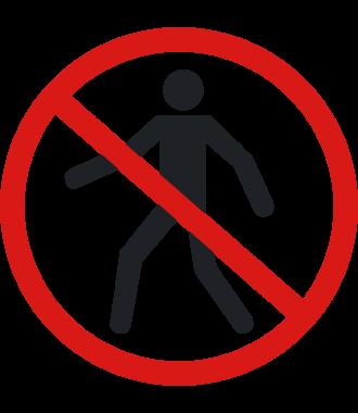 """Anti-slip floor pictogram: """"No Pedestrians"""""""