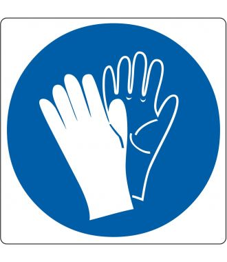 """Floor pictogram for """"Safety Gloves Required"""""""