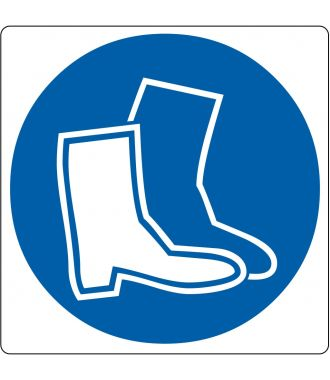 """Floor pictogram for """"Safety Footwear Required"""""""
