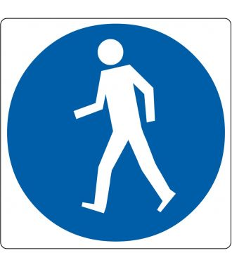"Floor pictogram for ""Pedestrians Only"""
