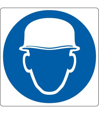 """Floor pictogram for """"Safety Headgear Required"""""""