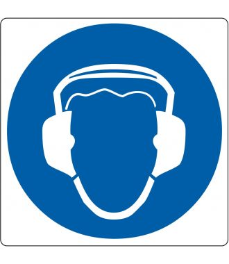 """Floor pictogram for """"Hearing Protection Required"""""""