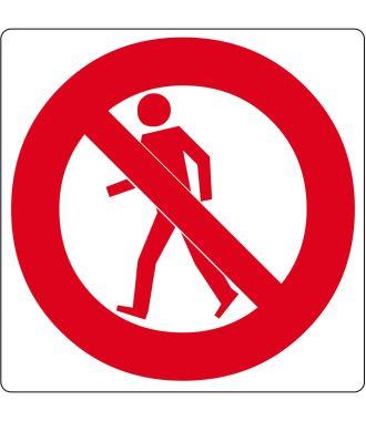 "Floor pictogram for ""No Pedestrians"""