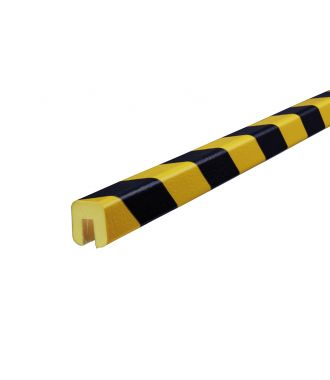 Knuffi bumper for edges type G - yellow/black - 5 meter