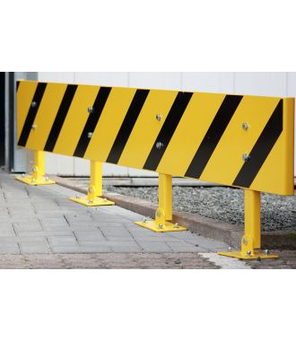 Height-adjustable guard rail
