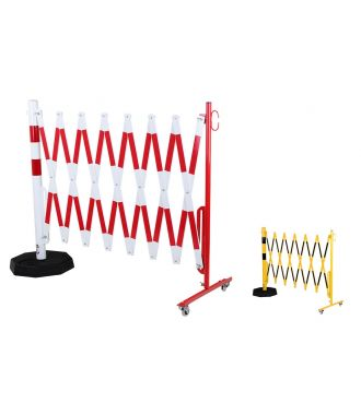 Expanding barrier with portable post