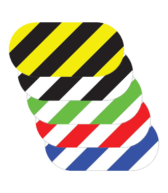 Oval - Hazard Stripes