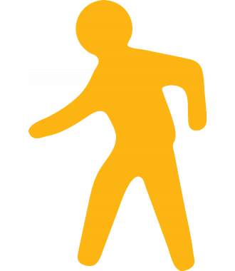 Pedestrian Walkway Floor Sign, Anti-slip