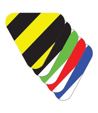 'Shark's teeth' yield lines (20 pieces) - Hazard Stripes