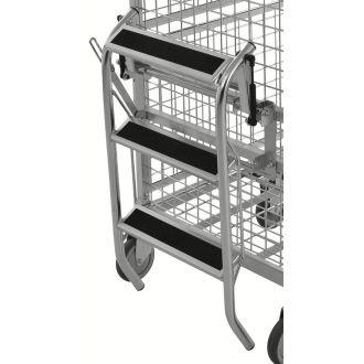 Kongamek folding step ladder for KM9000 shelf trolley