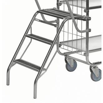Kongamek folding step ladder for KM8000 shelf trolley