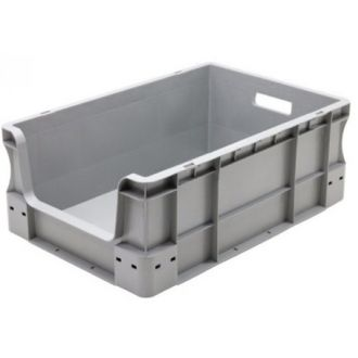 Straight-wall container Eurobox 400x600x230 mm with open front