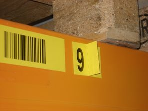 check digit on a seperate label